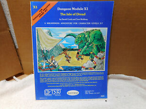 THE ISLE OF DREAD X1 Game Module Dungeons & Dragons TSR 1981 expert set