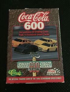 Coca Cola 600 Official Trading Cards Of 1995 Scoreboard Speed Street
