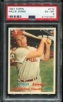 1957 Topps Baseball #174 WILLIE JONES Philadelphia Phillies PSA 6 EX-MT