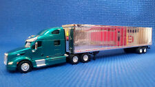 Tonkin 1/87 HO Diecast Peterbilt 587 Truck Cab & Chromed 53' Dry Van Trailer