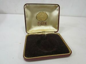 Vintage Elgin Pocket Watch Presentation Box