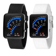 Women Mens Futuristic Japanese Style Multicolor LED Sport Wrist Watch Stylish
