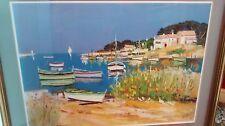 Framed Print by Ernest Audibert Coastal Scene