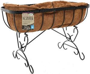 "Smart Garden Saxon Cradle Planter 24"" with Liner"