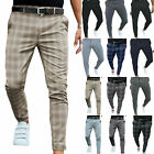 Mens Casual Stretch Skinny Slim Fit Chino Pants Flat Front Office Harem Trousers