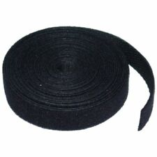 8WARE Hook & Loop Continuous Double Sided Velcro Roll - 12mm x 5m - Black