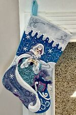 "FINISHED Bucilla ""WINTER MAGIC"" Princess Christmas Stocking * Fully Lined 18"""