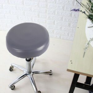 Stretch Bar Stool Covers PU Round Rotatable Chair Seat Cushion Sleeves
