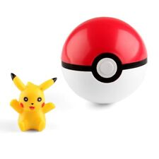 US Pokemon Pokeball Pop-up 7cm Plastic BALL Toy Action Figure with Pikachu Gift