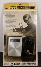 Vintage Handy Electronics Tape Recorder Microphone Sealed Package