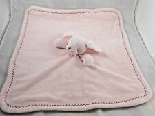 Blankets & Beyond Pink Rabbit Lovey Security Blanket Stuffed Animal