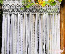 LUXURY~BOHO Chic~Romantic Lace Curtain/Wedding Photo Backdrop/Lace Garland~White