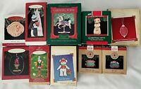Lot of 10 Hallmark Keepsake Ornaments Boxed Series Angel Kitty Bears Carousel