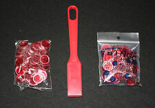 BINGO PAPER Cards, Red  Magnetic Wand with 200 Red Chips NEW