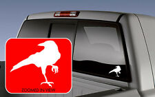Crow Blackbird Raven Car Vinyl Window Decal Sticker laptop wall pick color