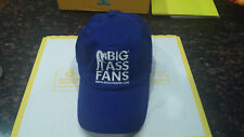 Big Ass Fans BigAssFans.com Royal Blue White Cotton Adjustable Strapback Hat Cap