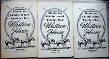 How to Ride & Train the Western Horse; booklets 1-7 set; 1967 Pete Moss; illust.