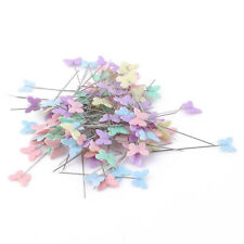 100Pcs Sewing Dressmaker Pin Butterfly Head Patchwork Pins with Storage Case