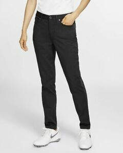 Nike Women's Slim Fit Golf Pants NWT $100 Solid Black Sz 12