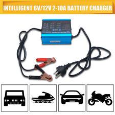 NEW GEL AGM 12V 6V Charger Battery Auto Smart 2/6/10A Car Boat 4WD Caravan Bike