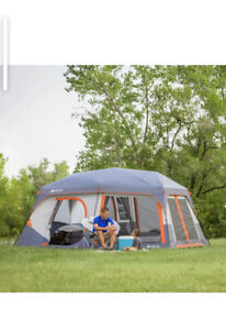 NEW OZARK TRAIL 10 PERSON INSTANT CABIN TENT WITH BUILT-IN LED LIGHTS 14x10'x6.6