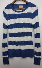 Aphorism Ladies Blue/White Stripped Wool Blend Jumper Top Size M /UK 12 / EU 38
