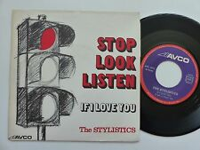 THE STYLISTICS Stop look listen AVCO AVE 4572  RRR