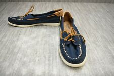 **Sperry A/O Venice Canvas STS81546 Boat Shoe, Women's Size 11M, Navy