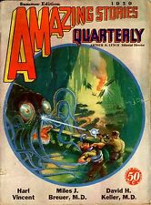 Amazing Stories Qrtly Vol 2  #3  Pulp  Summer 1929  GVG  Vincent, Breuer, Keller