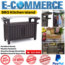 Kitchen Island Extra Large BBQ Storage Multifunction With Stainless Steeel Table