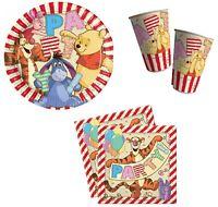 Winnie L'Ourson Pack Fête 8 Grand Plaques, 8 Tasses Et 20 Serviettes