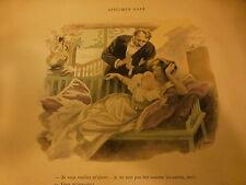 1890=  FERDINAND BAC album inédit 38 illustrations signées  futurs encadrements