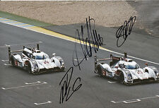 Lotterer, Treluyer, Fässler Audi Joest Hand Signed Photo 12x8 Le Mans 10.