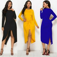 Women's Party Sexy Dovetail folds Dress Long Sleeve Dress Ball Gown Dresses