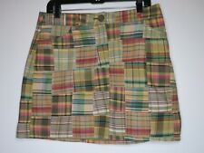 Women's Anne Taylor Loft Size 12 Plaid Lined Mini Skirt with pockets