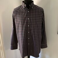 Mens Tommy Hilfiger Long Sleeved Tartan Check Shirt Slim Fit Size XL Nice