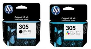 2 HP Druckerpatronen Tinte Nr. 305 BK / tri-color Multipack