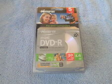 MEMOREX MINI DVD-R RECORDABLE FOR DVD CAMCORDER OR PC - 5 PACK - NIP - 30 MIN