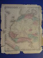 Hand-Colored G.W. & C.B.Colton map of AFRICA - Circa 1865