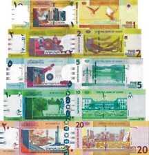 SUDAN - Lotto 5 banconote 1/2/5/10/20 pounds FDS - UNC