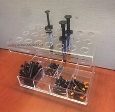PREMIUM DENTAL COMPOSITE SYRINGES & ACCESSORIES ORGANIZER HOLDER 21-HOLE
