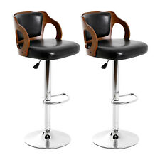 Modern Bar Stool Set Of 2 Beech Barstools Height Adjustable Counter Stools Bar