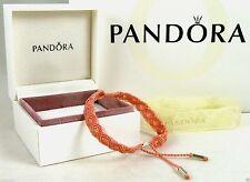 PANDORA 20cm Pink Macrame Solver Bracelet 590711cco-s2