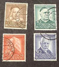 Germany Scott B334-37, Used, 1953 Semi-Postal Set Catalogs $75