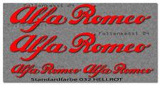 Alfa Romeo 4 Aufkleber Tuning Motorsport Brera Giulietta 147 Spider Alfa004