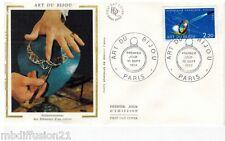 1983*ENVELOPPE SOIE**FDC 1°JOUR!!**ART DU BIJOU-PARIS**TIMBRE Y/T 2286