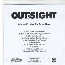 (BW770) Out Of Sight, Where Do We Go From Here - DJ CD