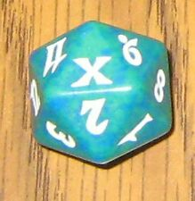 1 Green SPINDOWN Die 10th - 20 sided Spin Down Dice MtG Magic the Gathering