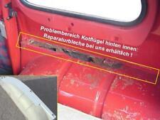 Renault R4 Reparaturbleche für hintere Kotflügel innen (2 Stück) für re + li