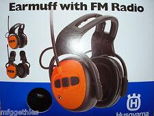 HUSQVARNA Gehörschutz mit UKW-Radio mit Audio-Eingang für MP3 + Funkverbindung